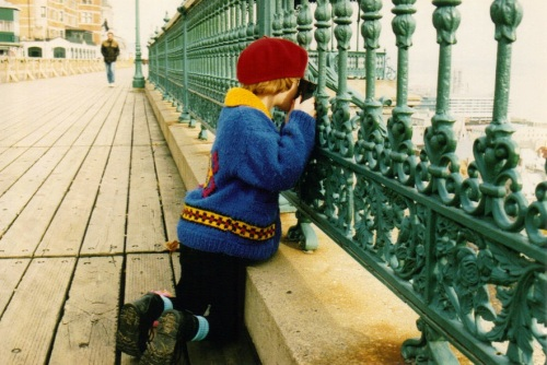 Me in a beret at age 7 taking photos in Quebec... how some things never change.